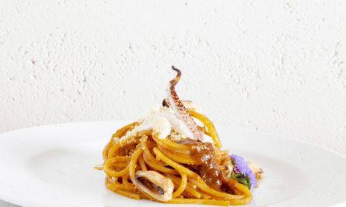Spaghetti con Salsa ai Molluschi del Ristorante Stravento e Trapani