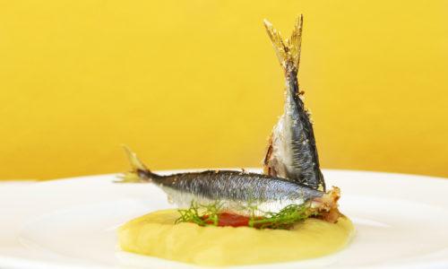 Duetto di sgombro, Chef Rocco di Marzo, Ristorante di pesce StraVento a Trapani
